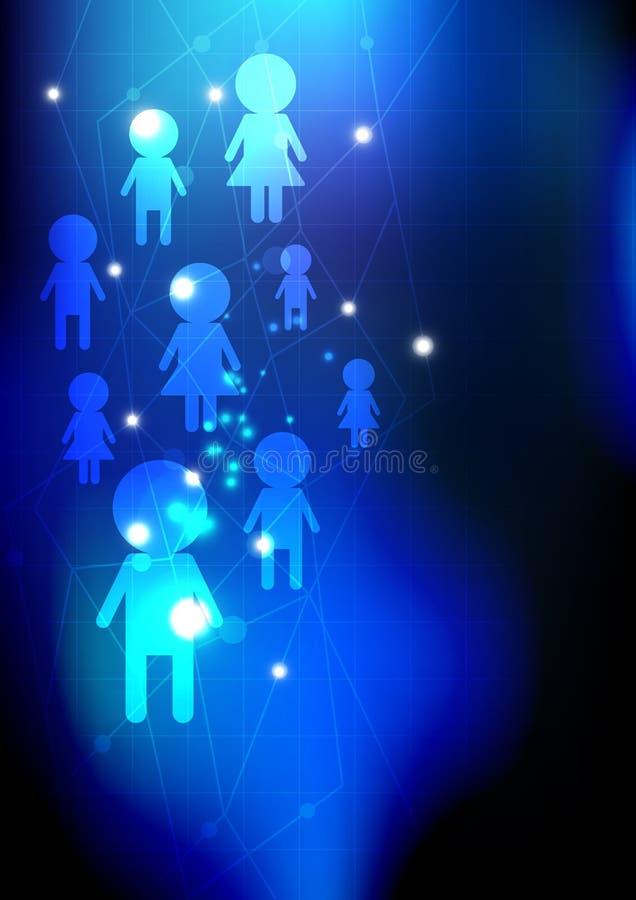 Rede social dos media ilustração royalty free