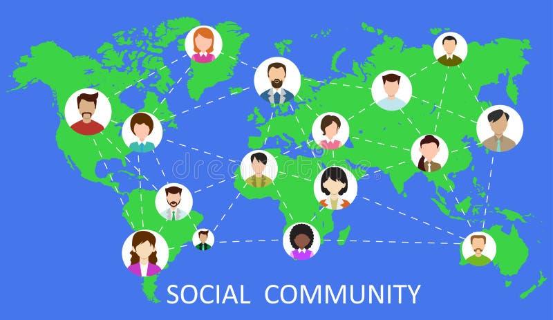 Rede social - vetor ilustração royalty free
