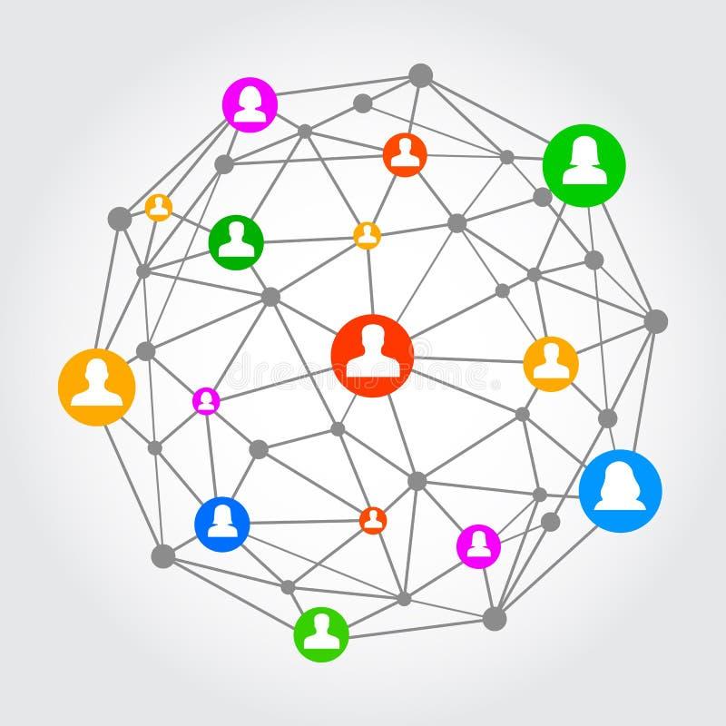 Rede social - vetor ilustração do vetor