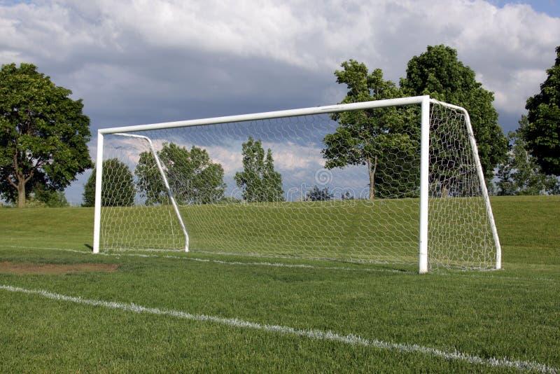 Rede solitária do futebol imagens de stock royalty free