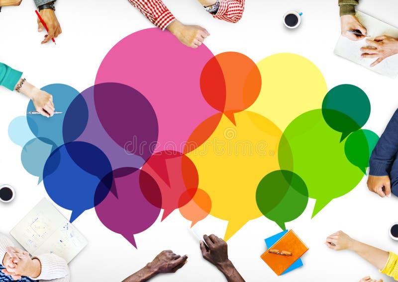 Rede sprudelt Mitteilungs-Konzept-Symbol-Kommunikations-Ideen-Konzept stock abbildung