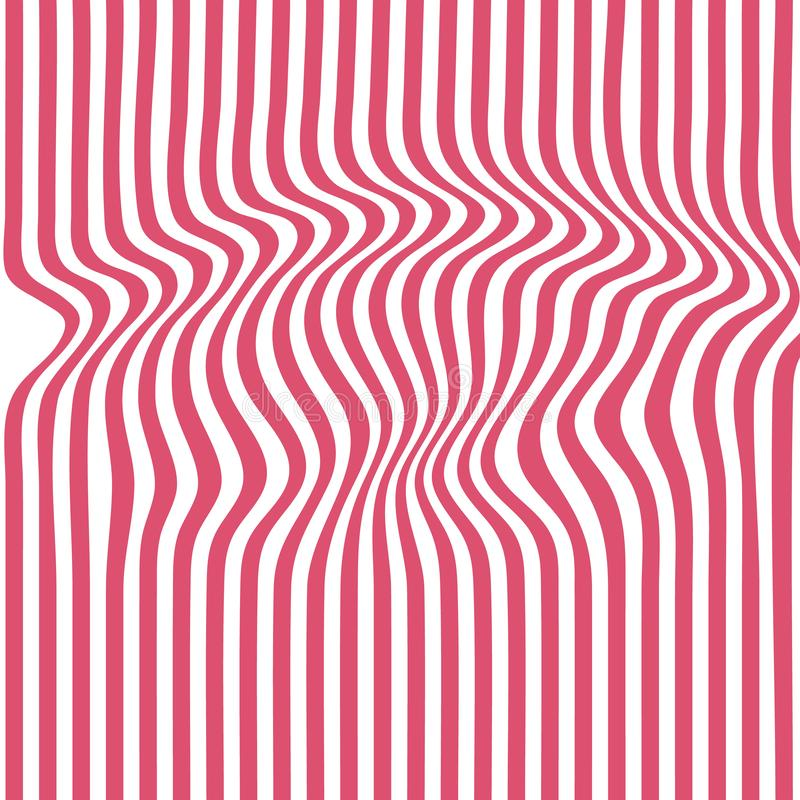 Rede striped backdrop zebra top distortion royalty free stock image