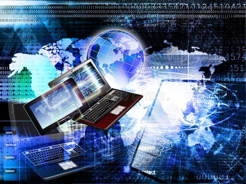 rede Uma comunicação E r imagem de stock