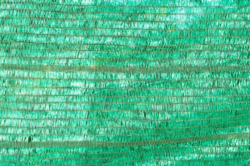 Rede verde da proteção sobre a casa pequena da planta imagens de stock