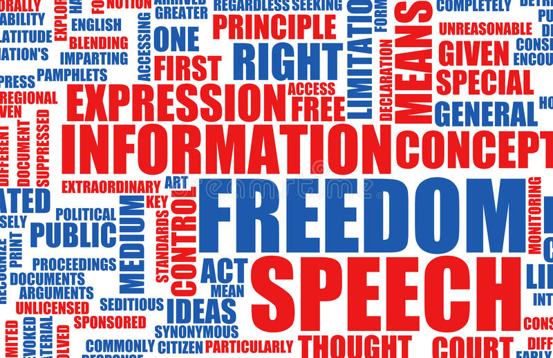 Redefreiheit stock abbildung