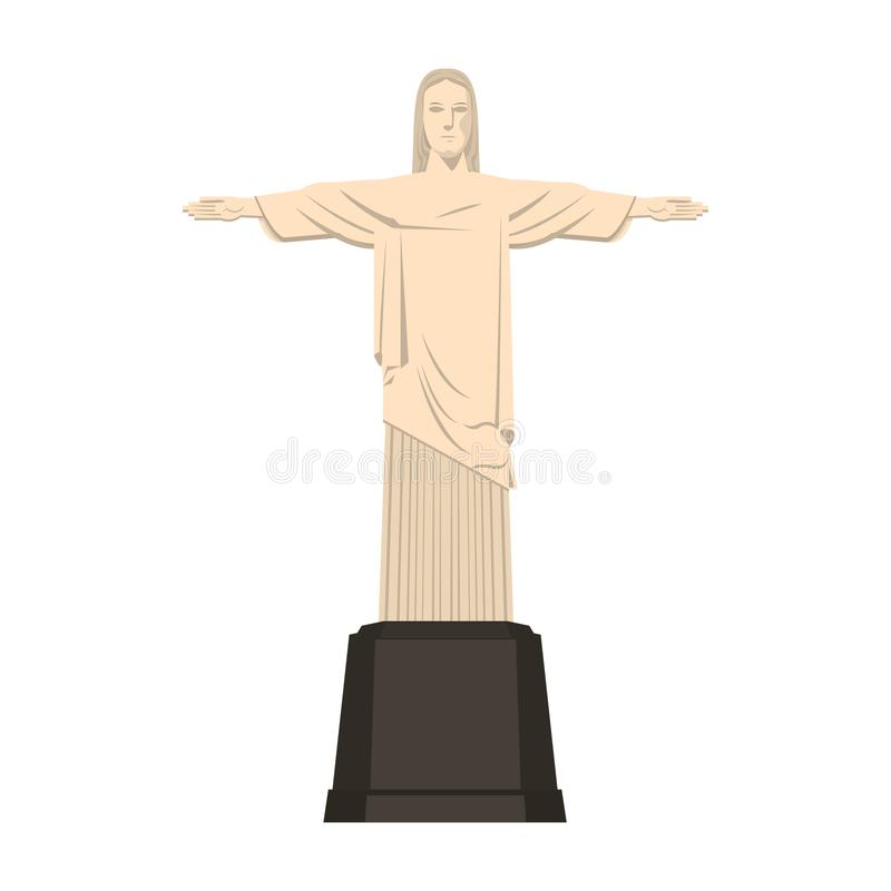 Redemeer christ brazil monument isolated vector illustration. Redemeer christ brazil monument isolated royalty free illustration