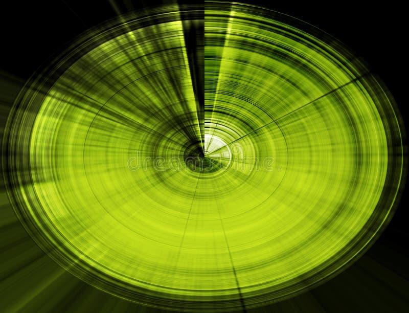 Redemoinho abstrato verde ilustração stock