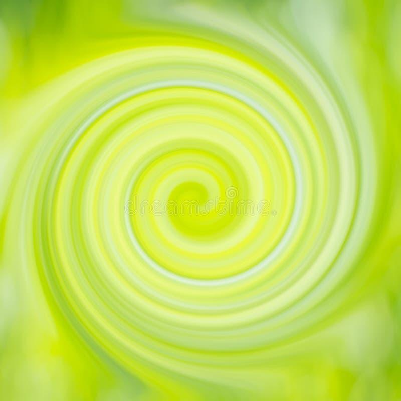 Redemoinho abstrato verde e amarelo ilustração stock