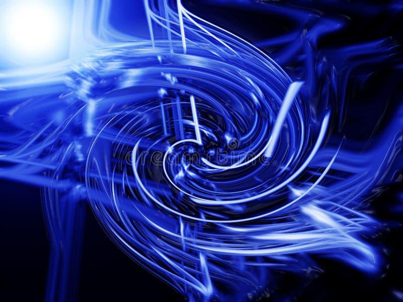 Redemoinho azul, 3 ilustração do vetor