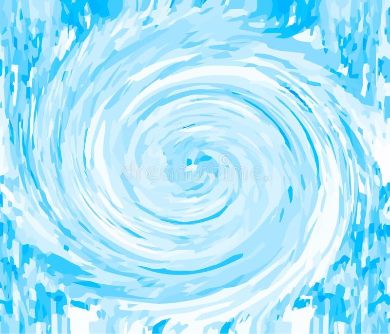 Redemoinho azul do fundo abstrato ilustração do vetor