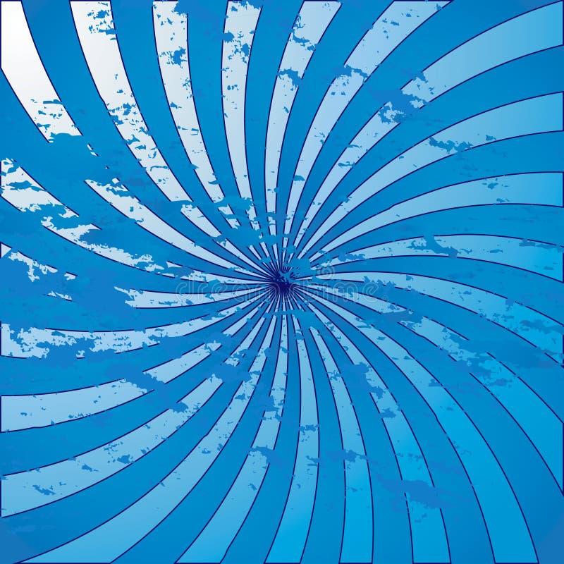 Redemoinho azul do starburst do grunge ilustração do vetor