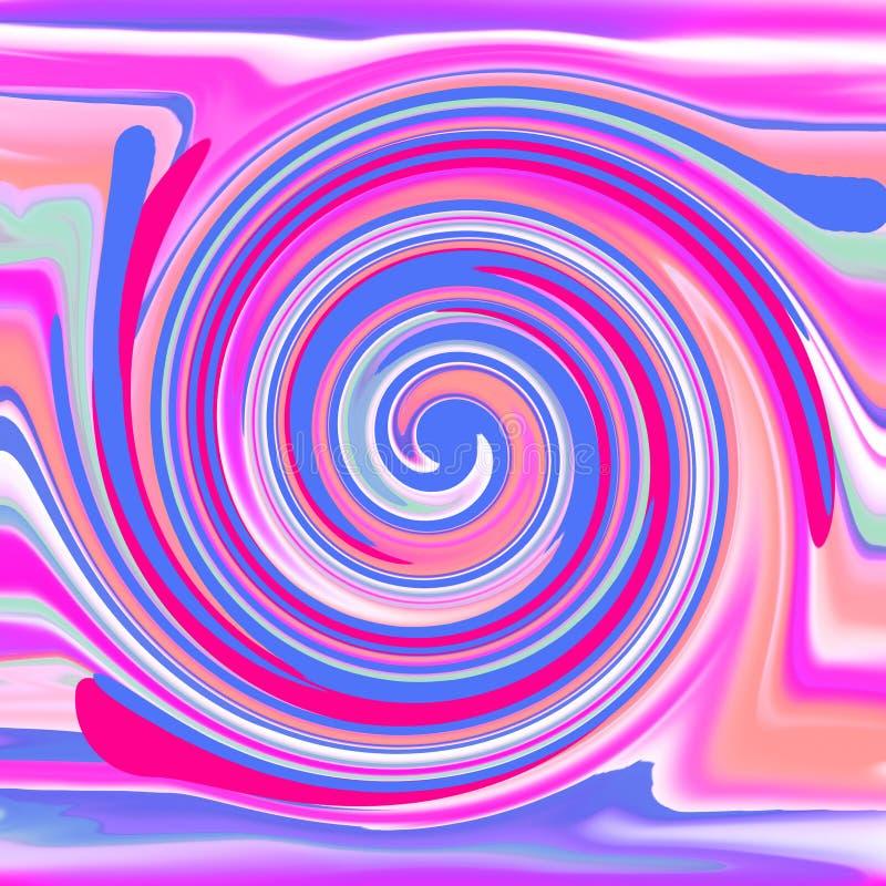 Redemoinho azul, fundo artístico retro ilustração do vetor