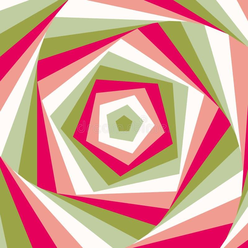 Redemoinho colorido abstrato. Vetor. ilustração royalty free