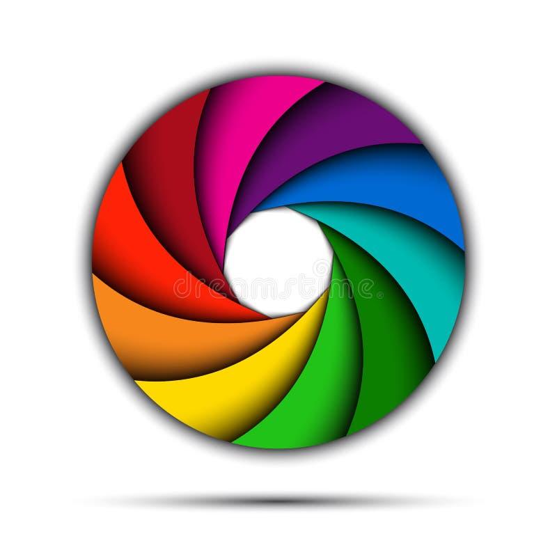 Redemoinho colorido do arco-íris ilustração do vetor