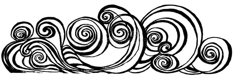 Redemoinho curso espiral da escova ilustração do vetor