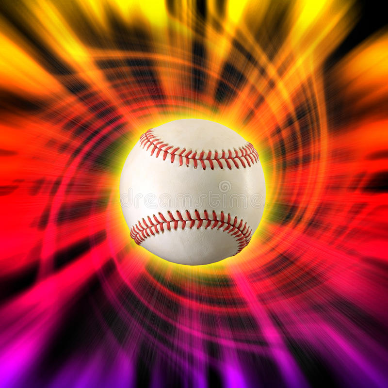 Redemoinho da cor do basebol imagens de stock