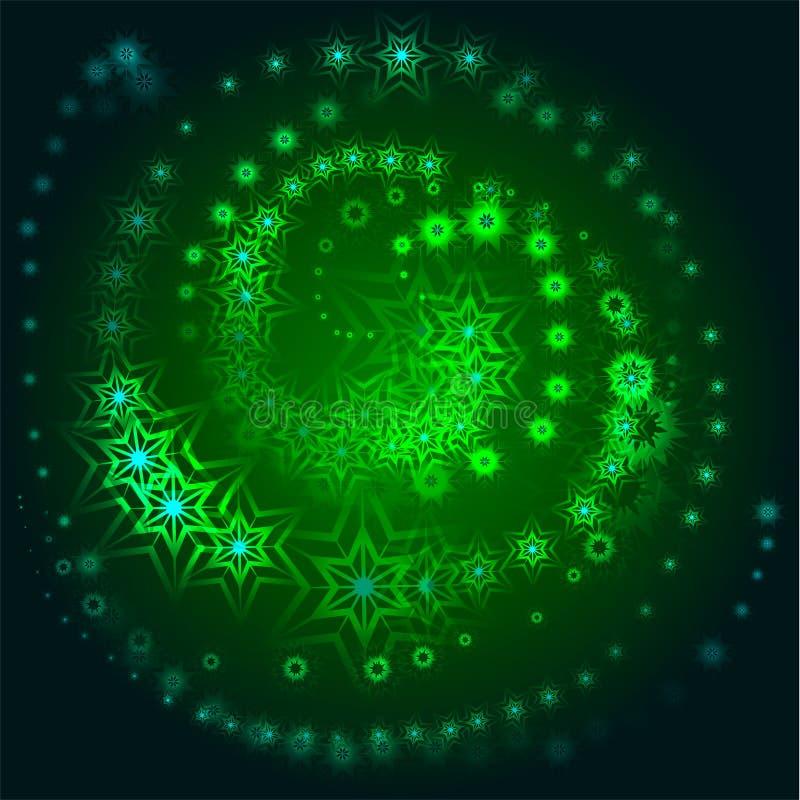 Redemoinho das estrelas ilustração do vetor