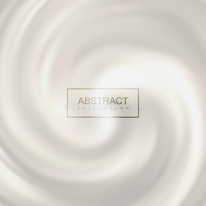 Redemoinho de roda branco do leite ilustração do vetor