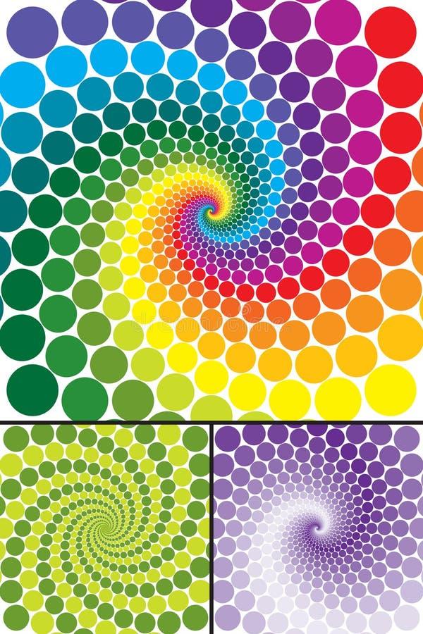 Redemoinho do arco-íris com variações ilustração royalty free
