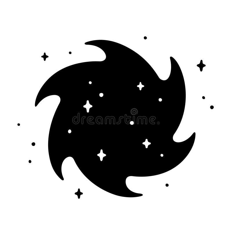 Redemoinho Do Buraco Negro Dos Desenhos Animados Ilustracao Do