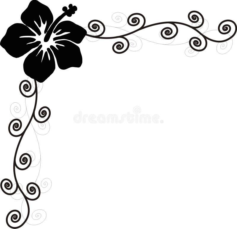 Redemoinho do hibiscus ilustração do vetor