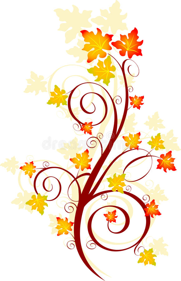 Redemoinho do outono ilustração stock