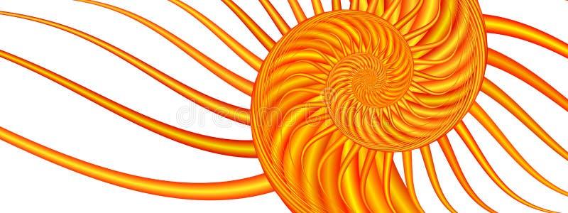 Redemoinho do verão - imagem do Fractal ilustração stock