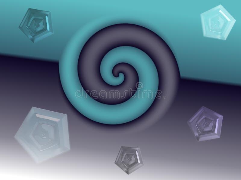 Redemoinho e gemas ilustração stock