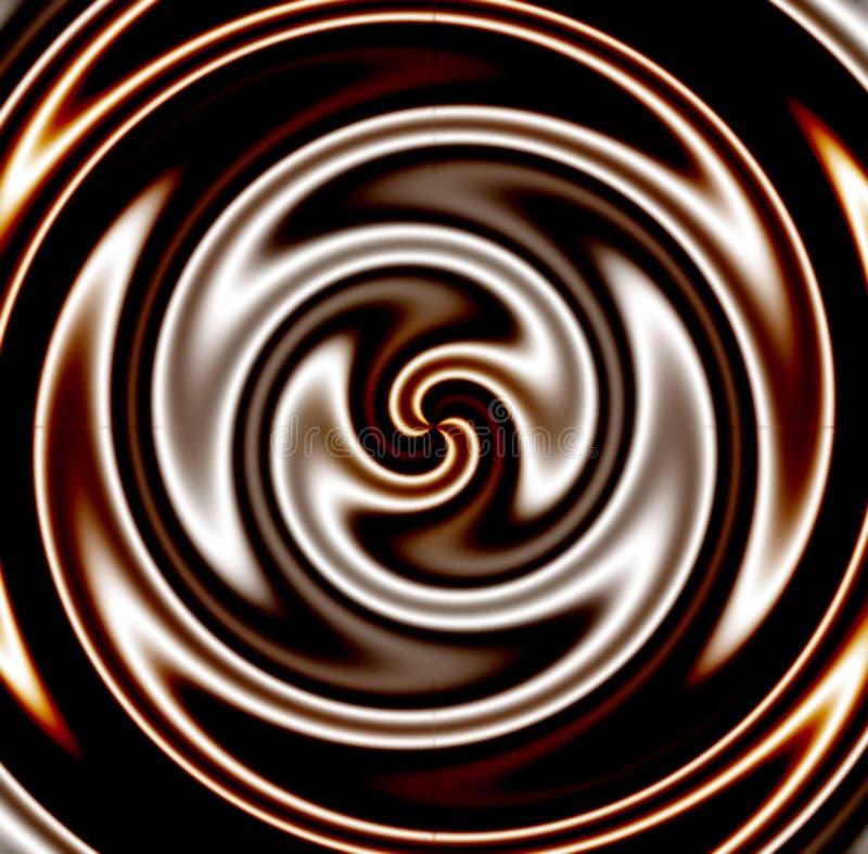 Redemoinho escuro do chocolate ilustração stock