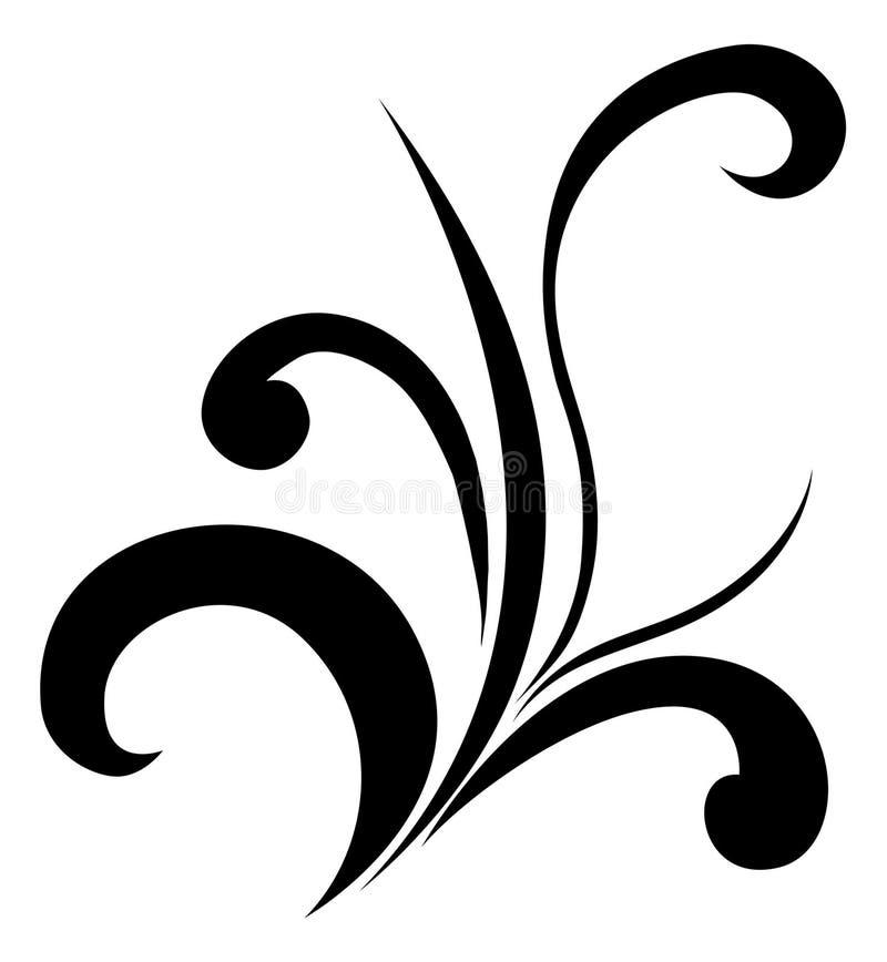 Redemoinho floral ilustração do vetor