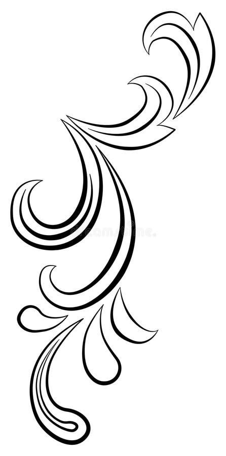 Redemoinho floral ilustração stock