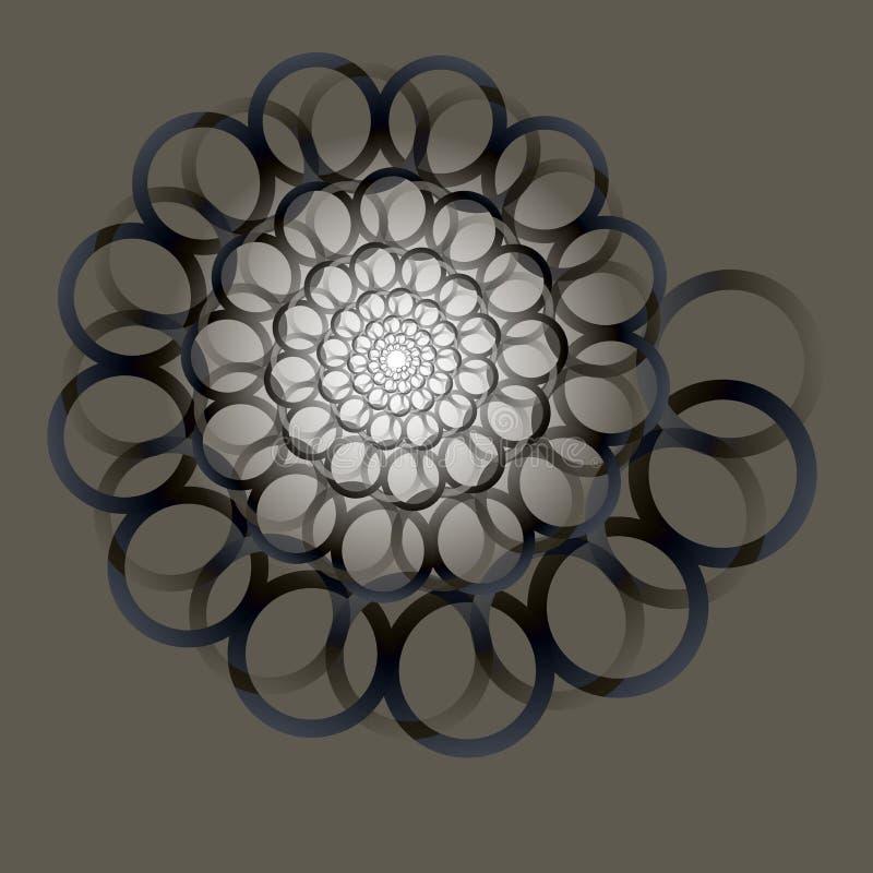 Redemoinho, fundo do redemoinho Espiral de giro Teste padrão de girar dos corações Ícone, anéis, inclinação, convite, cartão ilustração stock