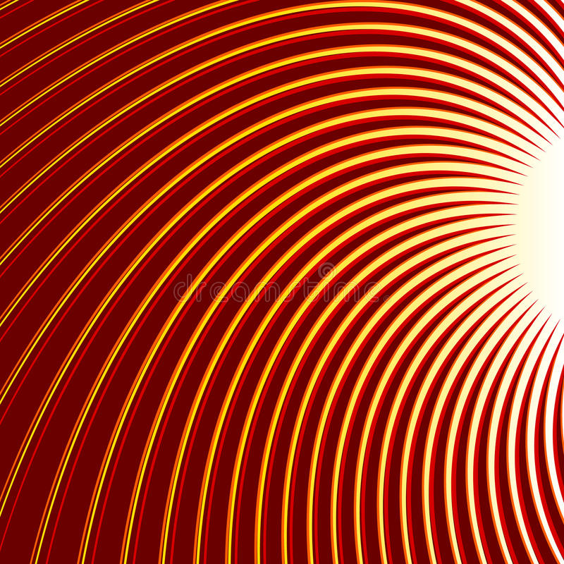 Redemoinho, fundo tricolor da espiral Linhas de giro finas radiais ilustração do vetor