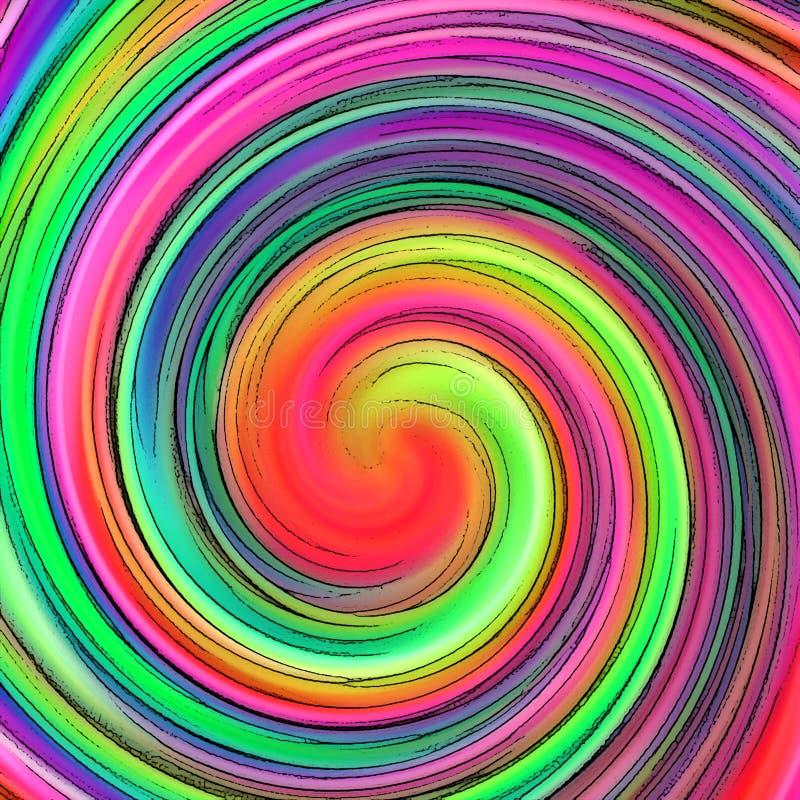 Redemoinho hipnótico abstrato ilustração do vetor