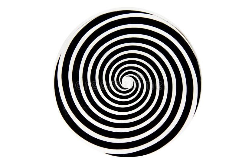Redemoinho hipnótico preto e branco fotos de stock royalty free