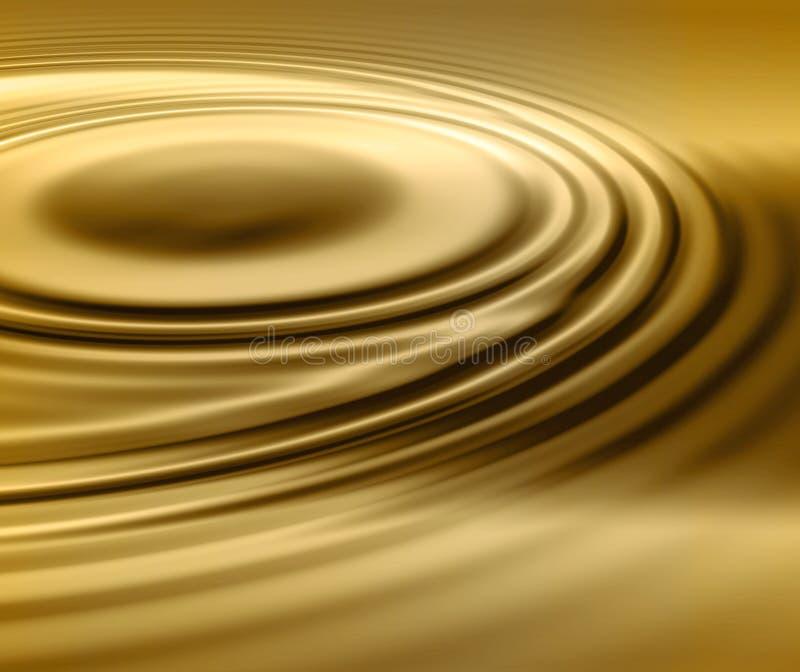 Redemoinho líquido do ouro ilustração royalty free