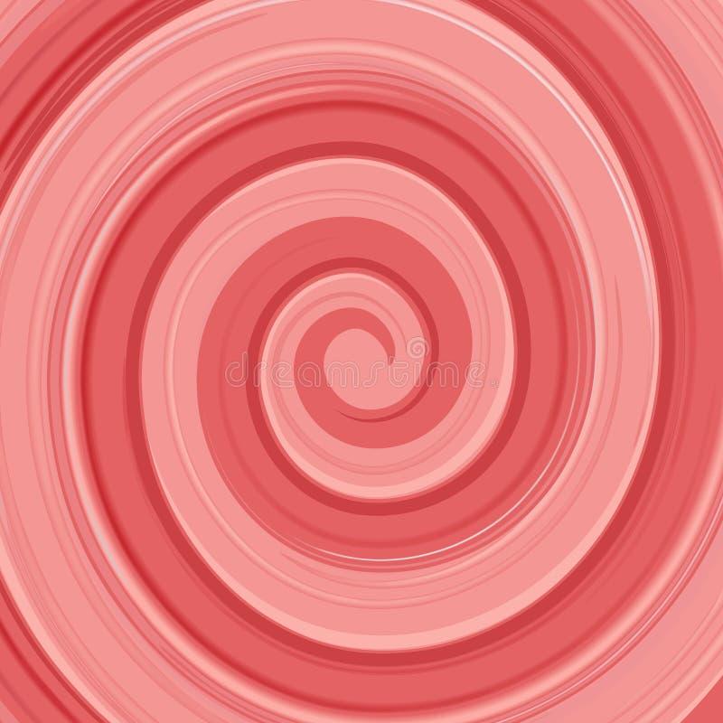 Redemoinho lustroso abstrato do creme do yogurt do vetor vermelho e ilustração royalty free