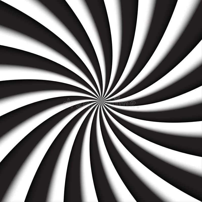 Redemoinho moderno cinzento e branco escuro, fundo abstrato do vetor ilustração stock