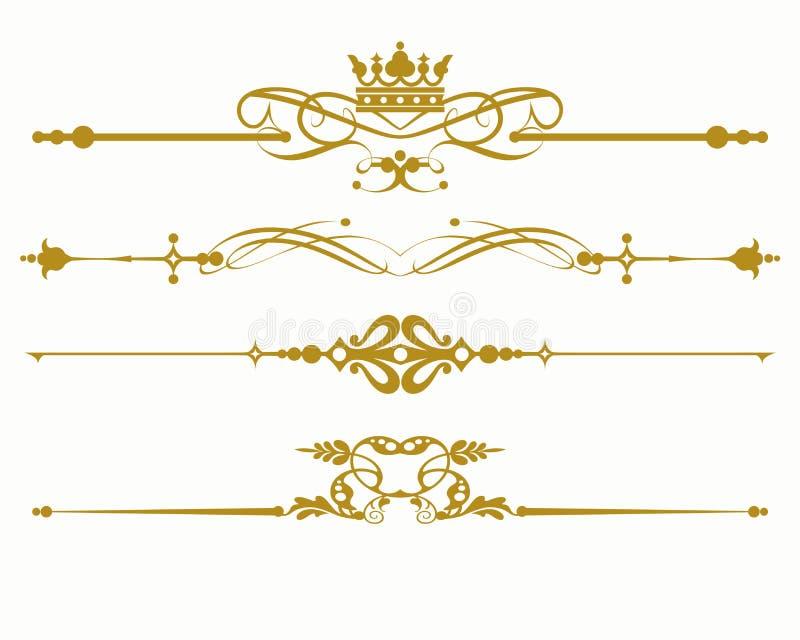 Redemoinho no estilo do vintage em um fundo branco Linha gráfica isolada vetor arte da ilustração Rolo antigo ilustração stock
