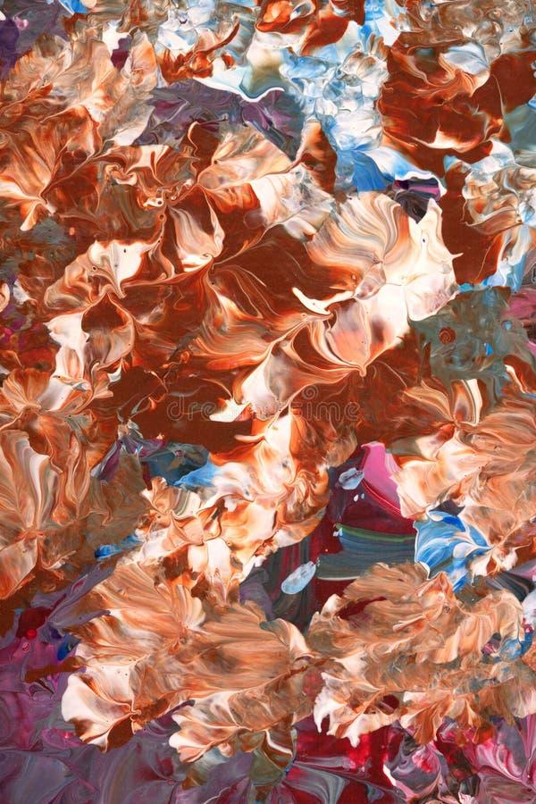 Redemoinho Reddishbrown da pintura abstrata ilustração do vetor