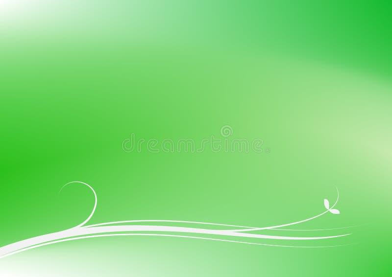 Redemoinho simples no vetor verde do fundo do sumário da curva ilustração do vetor