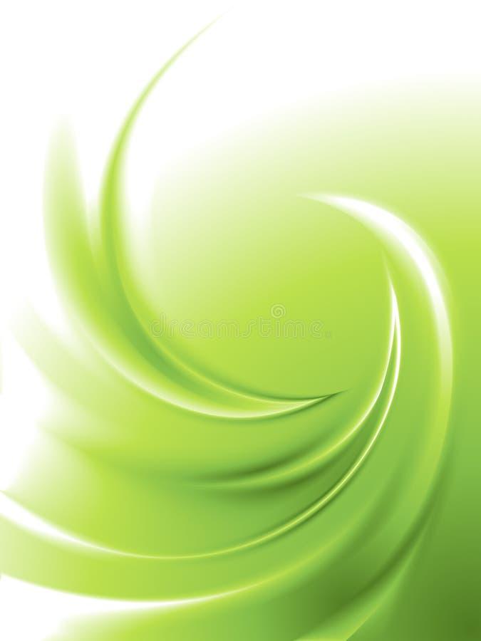 Redemoinho verde abstrato ilustração royalty free