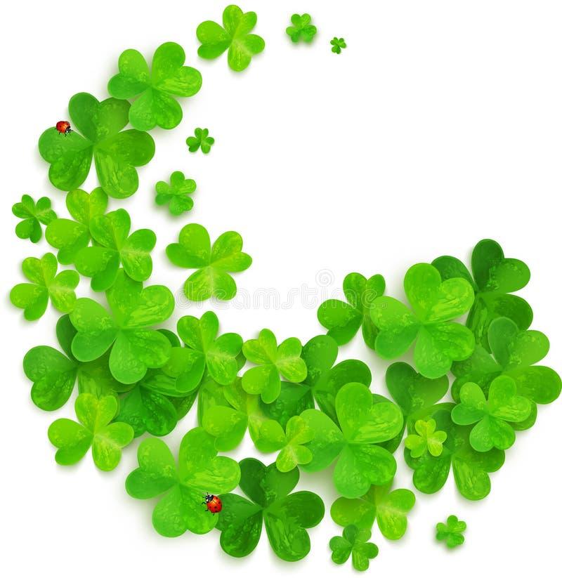 Redemoinho verde feito de trevos do vetor ilustração royalty free