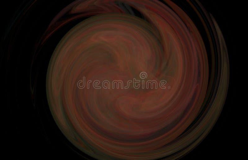 Redemoinho verde vermelho colorido abstrato do fractal no fundo preto Textura do fractal da fantasia Twirl vermelho de Digitas ar ilustração stock