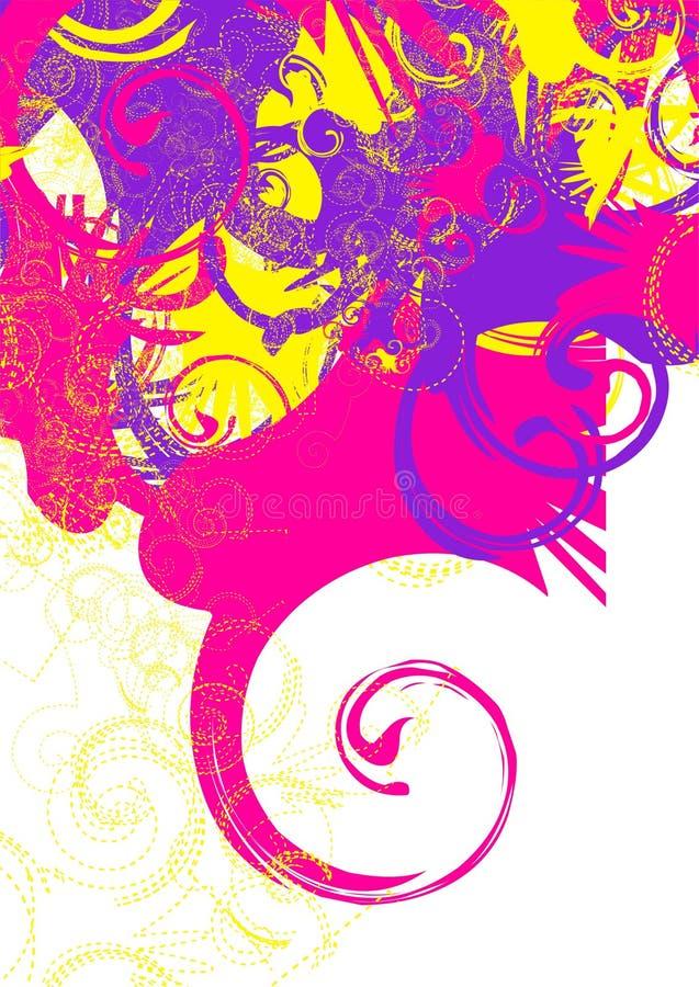 Redemoinhos coloridos ilustração stock