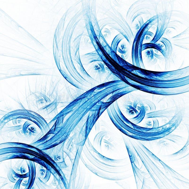Redemoinhos do techno do Fractal ilustração do vetor
