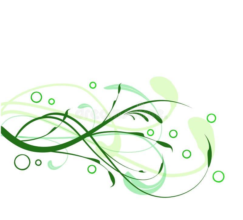 Redemoinhos do verde ilustração royalty free