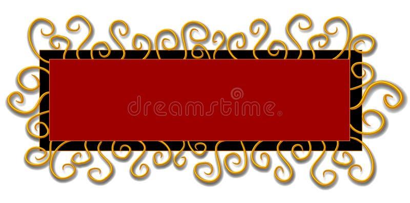 Redemoinhos do vermelho do preto do logotipo do Web page ilustração do vetor