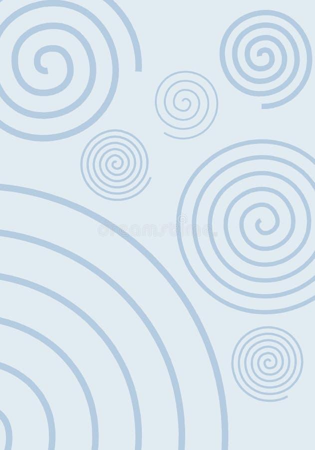 Redemoinhos no azul ilustração stock