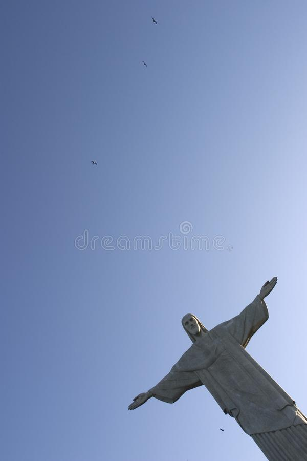 Redentor e pássaros de Cristo fotografia de stock royalty free
